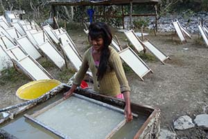 Handmade paper making in Dolakha1