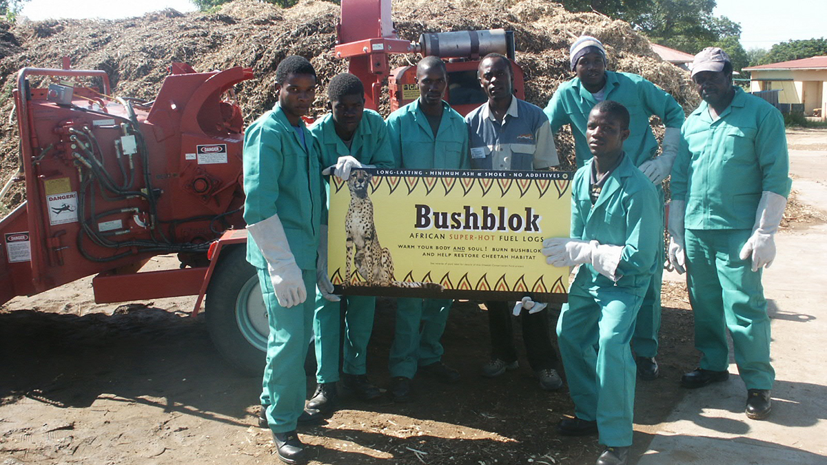CCF Bushblok crew proudly showing off the finished product