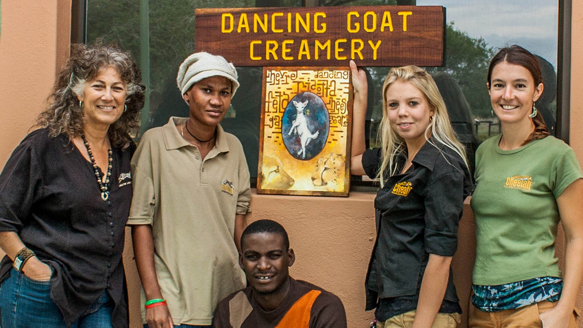 Dr. Laurie Marker & the Dancing Goat Creamery Crew