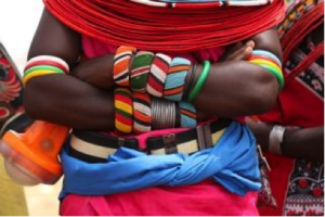 Beadwork as an alternative livelihood to illegal poaching in Kenya. (Photo courtesy of Joanna Brown)
